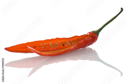 red hot chili peppers on white