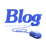 Blog in Blue poster