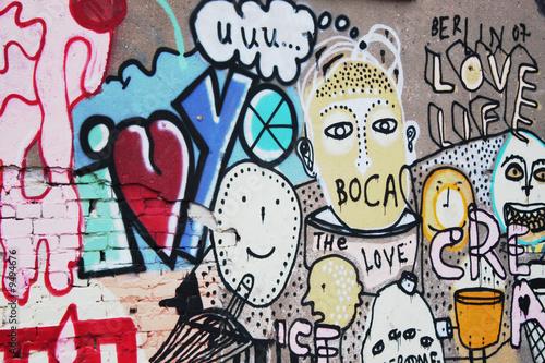 Naklejka Graffiti Streetart Berlin