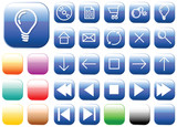 Vector glass buttons - squares - for your webpage or application poster