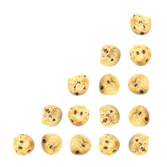 Cookie Food Business Chart Indicating Growth on White Background