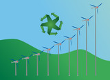 increasing wind energy demand concept poster