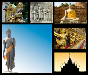 collection of travel images with Asian theme