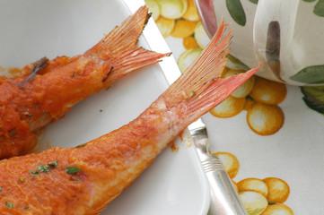 Triglie al pomodoro - Secondi pesce