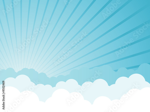 Cloudy cartoon background