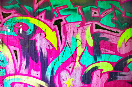 background picture of colorful graffiti wall