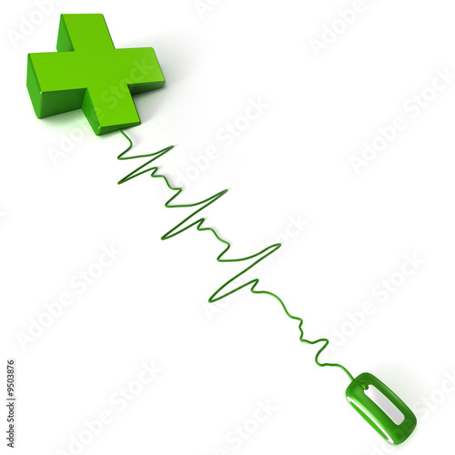 pharmacy's symbol green cross connected