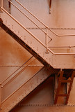 architectual abstract painted steel staircase poster