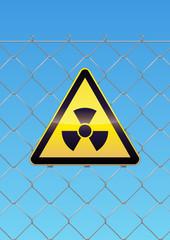 Panneau de danger radioactivité