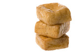Isolated image of beancurd or commonly known as tofu. poster