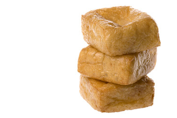 Isolated image of beancurd or commonly known as tofu.