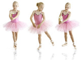 Fototapety Young ballerina dancer over a white background