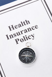 Document of Health Insurance Policy for background poster