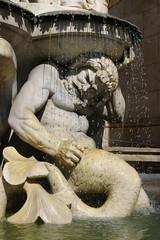Architectural detail of the fountain. Vienna