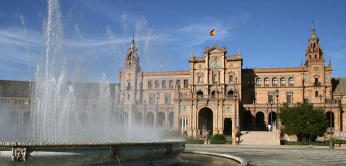 place d'Espagne à Séville, où a été filmé l'attaque des clones