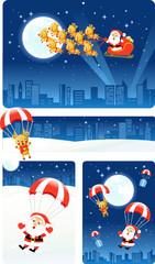 Christmas banners: Santa & Rudolph