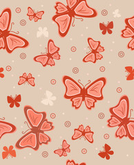 Abstract background with butterflies. Vector illustration