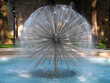Spherical fountain on romantic background