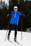 woman runing cross-country ski 1 poster