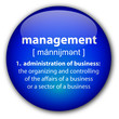 """Management"" button with definition"