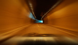 Very high speed drive through a tunnel poster