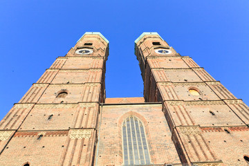 The Frauenkirche cathedral in Munich Germany