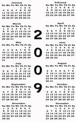 Calendar 2009 happy new year