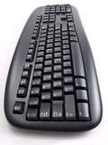 Black Keyboard overhead Perspective poster