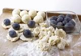 plum dumplings for tasty vegetarian lunch poster