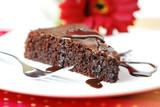 fluffy chocolate cake - schokokuchen poster