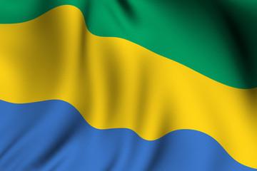 Rendered Gabonese Flag