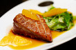 Roasted duck breast fillet with miso-orange sauce