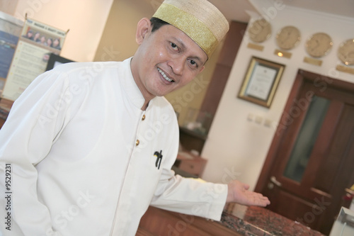hotel staff welcome