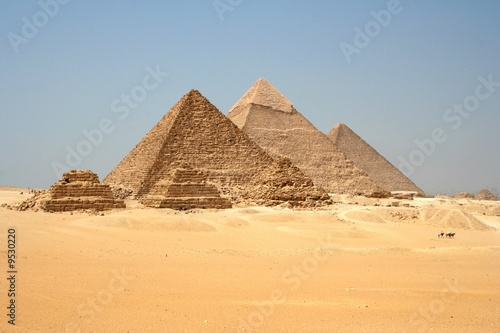 Foto op Aluminium Egypte Pyramides de Gizeh, Egypte_Pyramids of Giza, Egypt