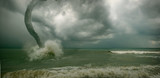 ocean tornado storm (3D used) poster