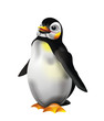 Cute penguin illustration isolated on white