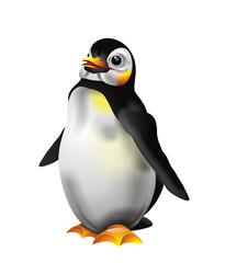 Cute penguin illustration isolated on white