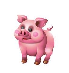 Cute pig illustration isolated on white background