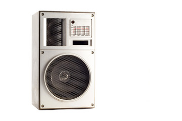 old acoustic system isolated on white