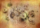 lost time - grunge clockwork mechanism - cog wheels poster