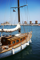 A Yacht in Rhodes Town