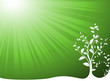 vector serie - ecology and environment with green sun light