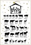 Chrsitmas Animal - big vector collection
