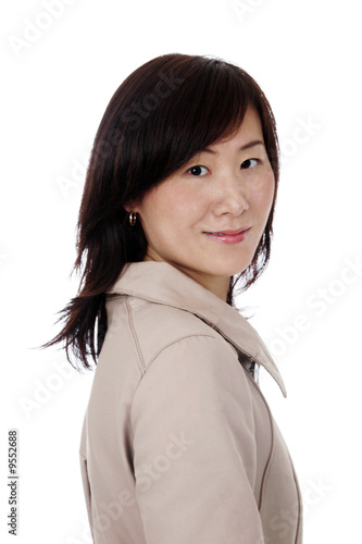 Beautiful Young Asian (Chinese) Businesswoman With Coat