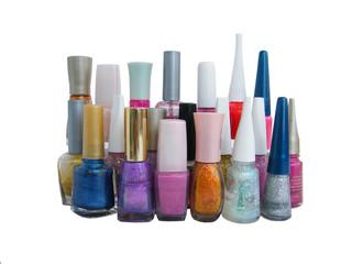 collection of nail polish
