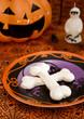 Halloween meringue bones
