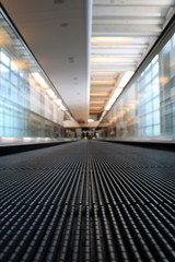 Moving Walkway in Airport - Prespective View