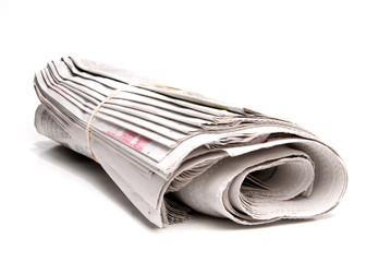 A daily newspaper ready for a loyal subscriber.
