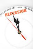 clock face, concept of Economic Recession poster