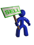 3D rendered sell sign poster